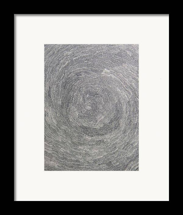 Drawing Framed Print featuring the drawing Source Of Time by Uwe Schein
