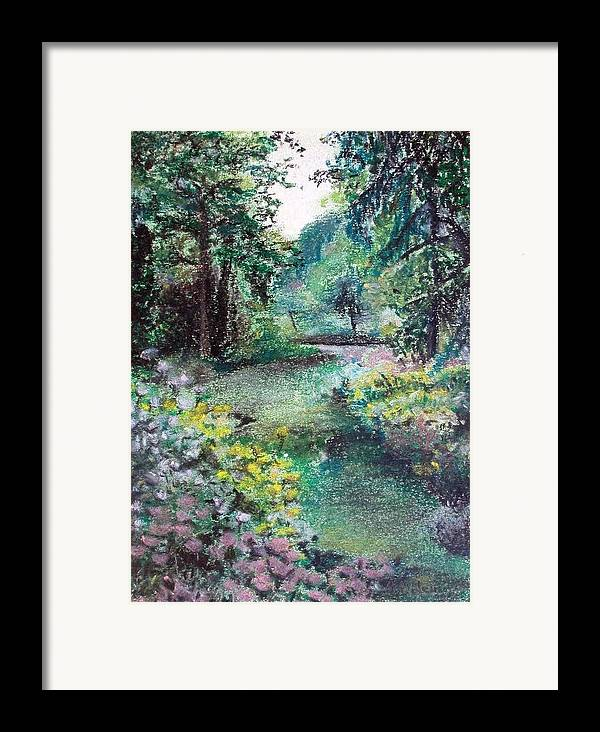 Landscape Framed Print featuring the drawing Sous-bois by Muriel Dolemieux