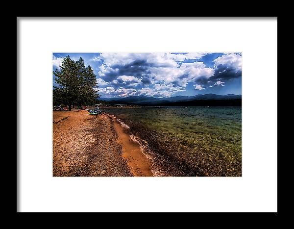 Priest Lake Framed Print featuring the photograph South Beach At Priest Lake by David Patterson