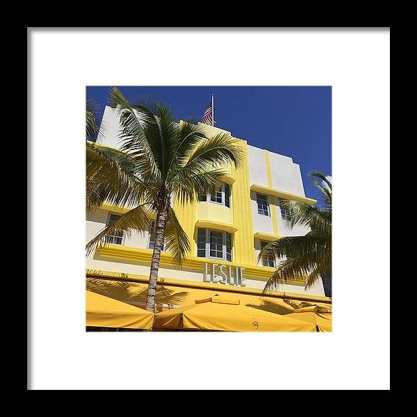 Miamiarchitecturalphotography Framed Print featuring the photograph South Beach #juansilvaphotos by Juan Silva