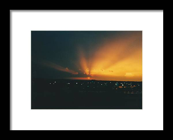 Landscape Framed Print featuring the photograph South Beloit Ilinois Sundown by Gene Linder