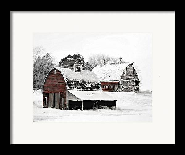 Christmas Framed Print featuring the photograph South Dakota Farm by Julie Hamilton