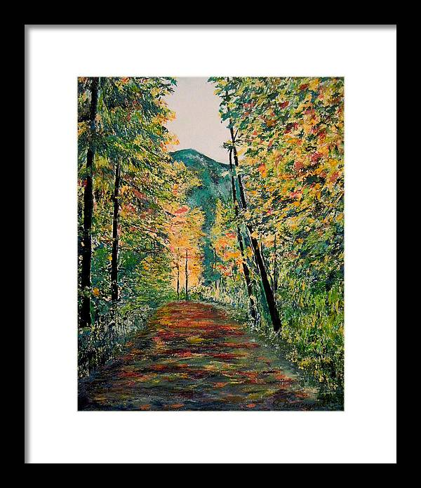 South Fork Trail Framed Print featuring the painting South Fork Trail by Richard Beauregard