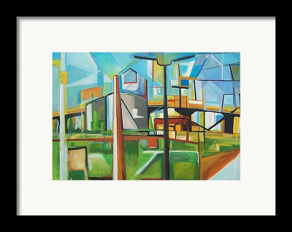 Landscape Framed Print featuring the painting South Hackensack by Ron Erickson