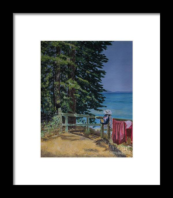 Acrylic Framed Print featuring the painting South Lake Tahoe Summer by Jackie MacNair