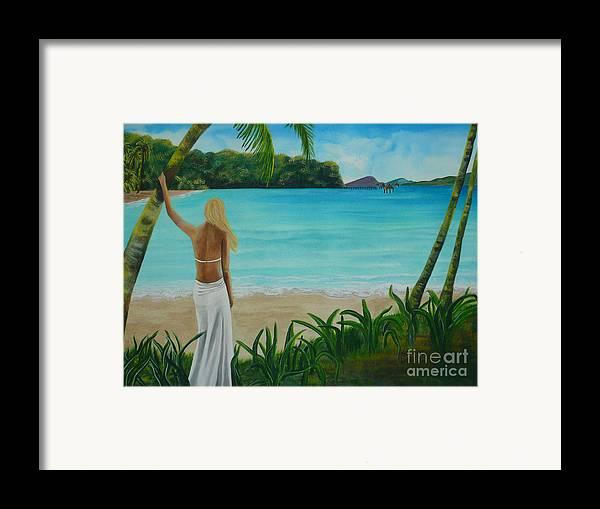 Tropical Framed Print featuring the painting South Pacific Dreamin by Kris Crollard