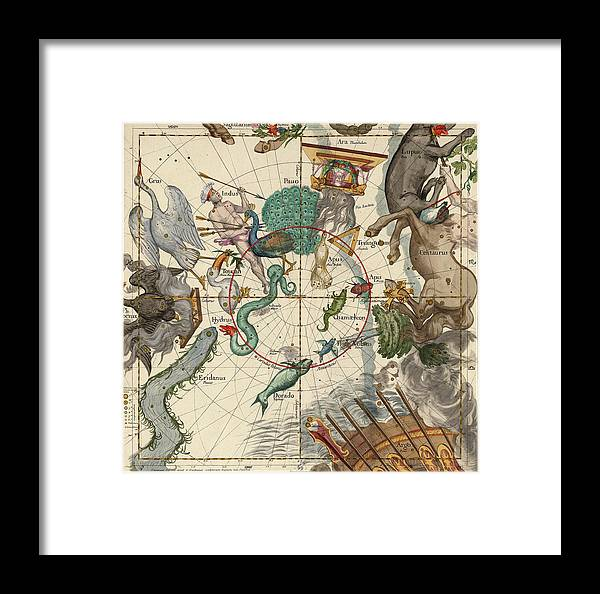 South Pole Framed Print featuring the painting South Pole by Ignace-Gaston Pardies