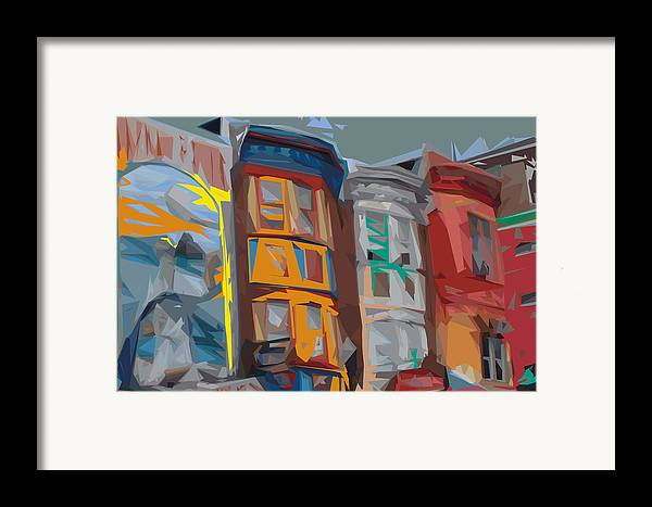 Philadelphia Framed Print featuring the digital art South Street Revisited by Kevin Sherf