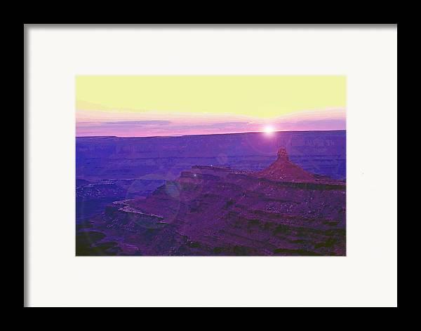 Desert Framed Print featuring the photograph Southeastern Utah Sunset 2 by Steve Ohlsen