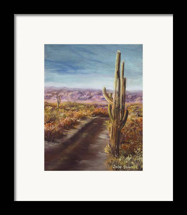 Desert Framed Print featuring the painting Southern Arizona by Jack Skinner