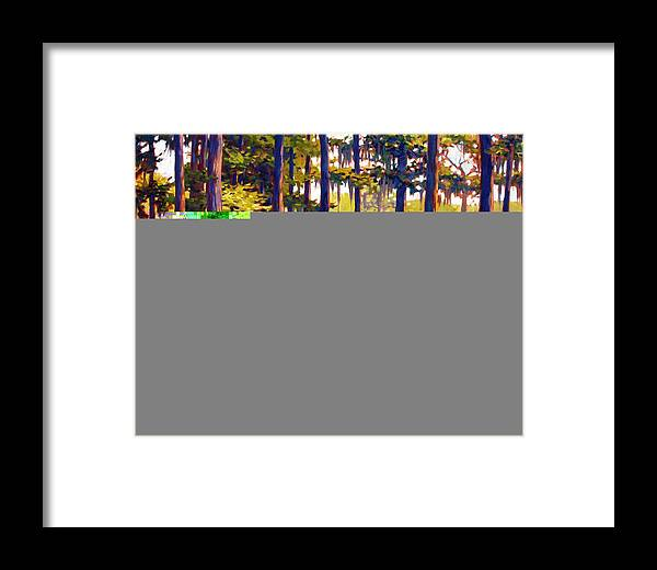 Marshes; Egrets; Low Country; Palmetto Trees Framed Print featuring the painting Southern Breeze by Ben Kiger