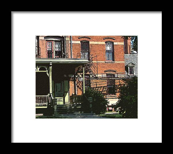 Cedric Hampton Framed Print featuring the photograph Southern Facade Hotel Florence by Cedric Hampton