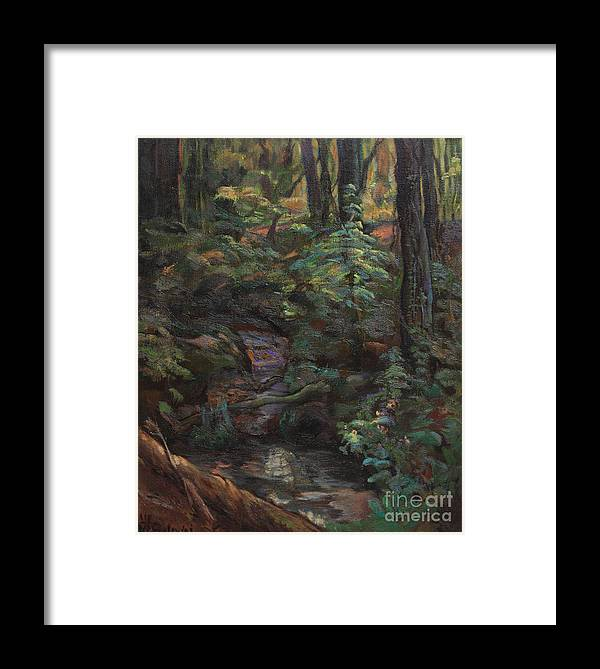 Oil Paintings Framed Print featuring the painting Southern Jungle by Maris Salmins