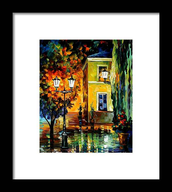 Afremov Framed Print featuring the painting Southern Night by Leonid Afremov