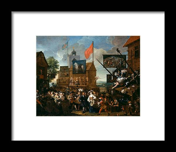 William Hogarth Framed Print featuring the painting Southwark Fair by William Hogarth