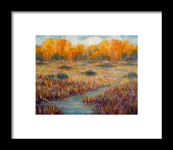 Realism Framed Print featuring the painting Southwest Autumn by Donelli DiMaria