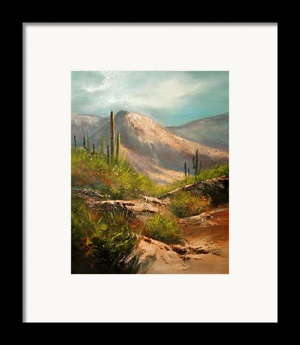 Landscape Framed Print featuring the painting Southwest Beauty by Robert Carver
