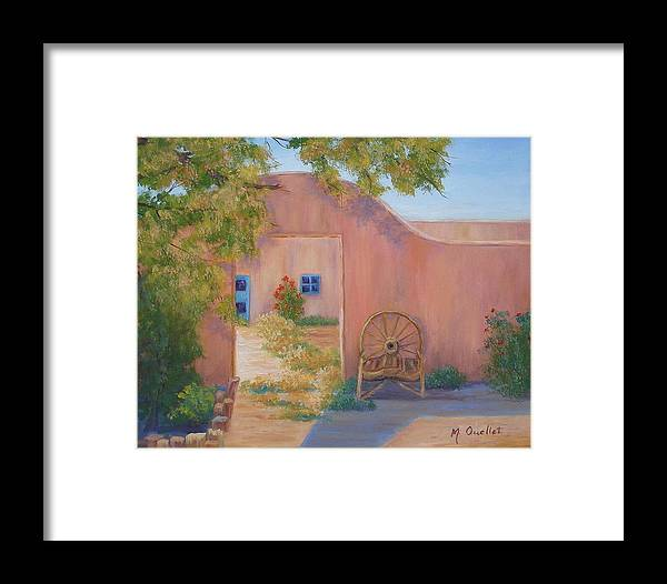 Landscape Framed Print featuring the painting Southwest by Maxine Ouellet