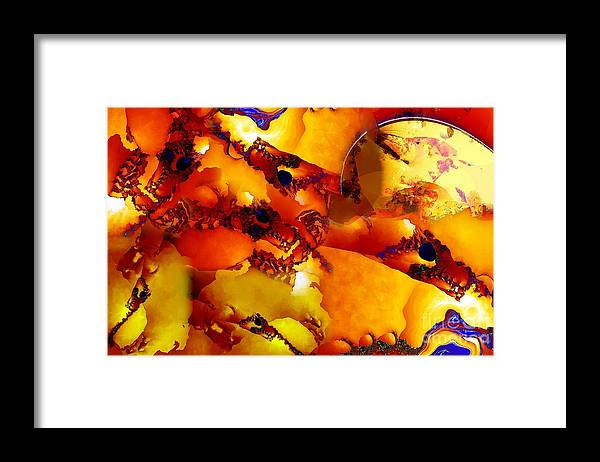 Abstract Framed Print featuring the digital art Southwest by Ron Bissett