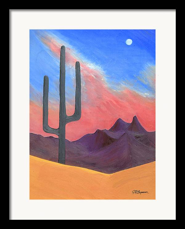 Cactus Framed Print featuring the painting Southwest Scene by J R Seymour