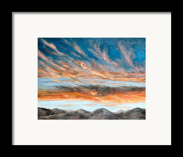 Sunset Framed Print featuring the painting Southwest Sunset by Merle Blair