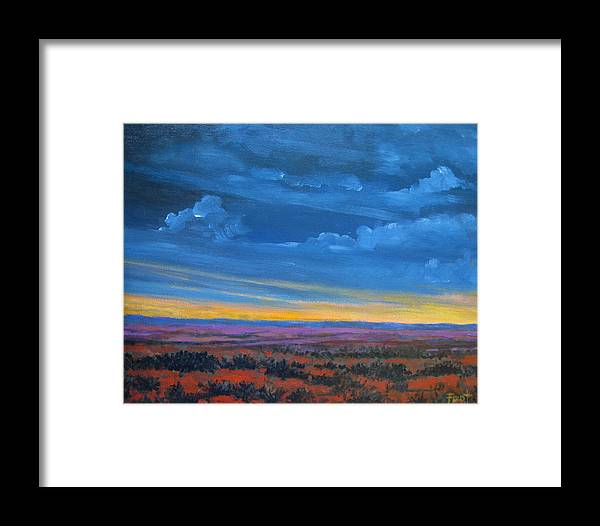 Sunset Framed Print featuring the painting Southwestern Sunset by Gene Foust