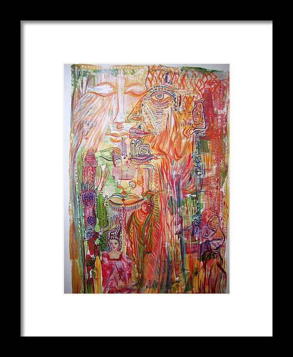 Past Lifes Framed Print featuring the painting Souvenirs by Helene Champaloux-Saraswati