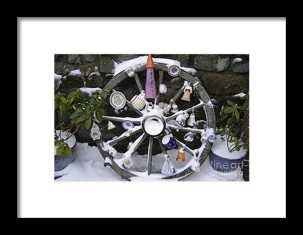Snow Framed Print featuring the photograph Souvenirs by Mary Rogers