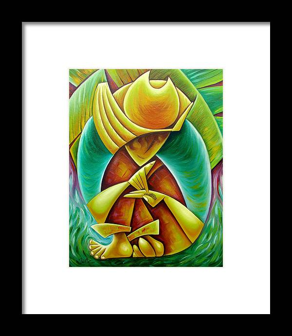 Framed Print featuring the painting Sower by Javier Martinez