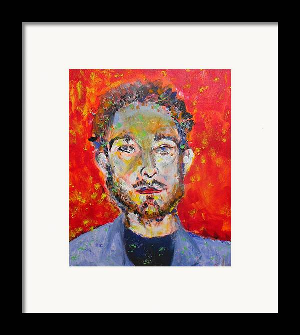 Portrait Framed Print featuring the painting Soxb by Joyce Goldin