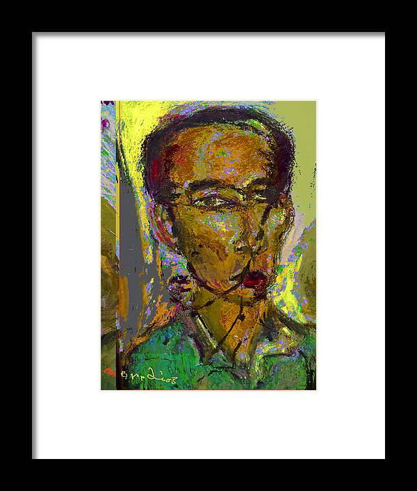 Selfprtrait Framed Print featuring the painting Sp 071308 by Noredin Morgan