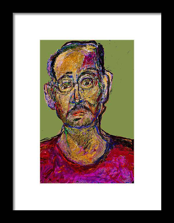 Self Portrait Framed Print featuring the painting Sp200508 by Noredin Morgan