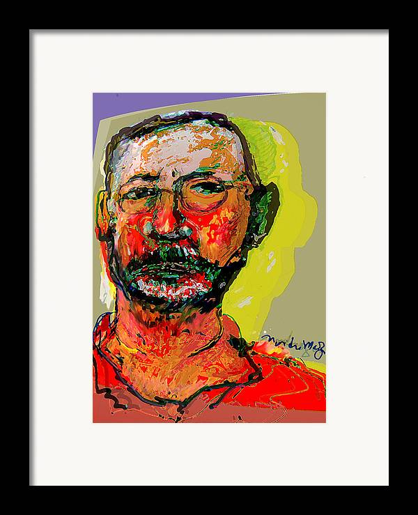 Self Portraits Framed Print featuring the painting Sp3808 by Noredin Morgan
