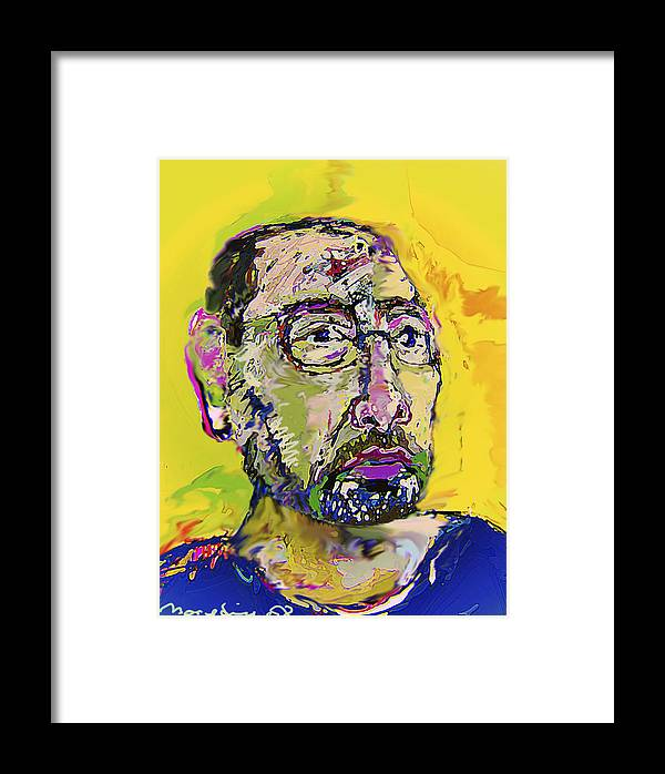 Self Portrait Framed Print featuring the painting Sp42508 by Noredin Morgan