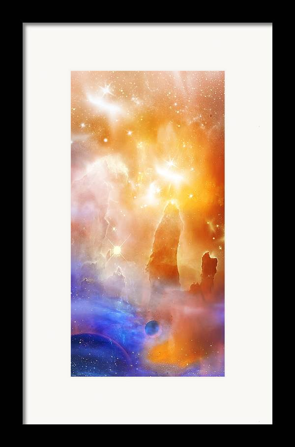 Abstract Framed Print featuring the digital art Space 007 by Svetlana Sewell