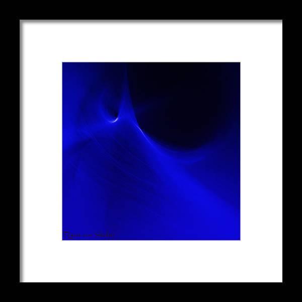 Digital Art Framed Print featuring the digital art Space 6 by Riana Van Staden
