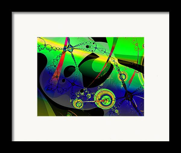 Fractal Framed Print featuring the digital art Space Carnival by Frederic Durville