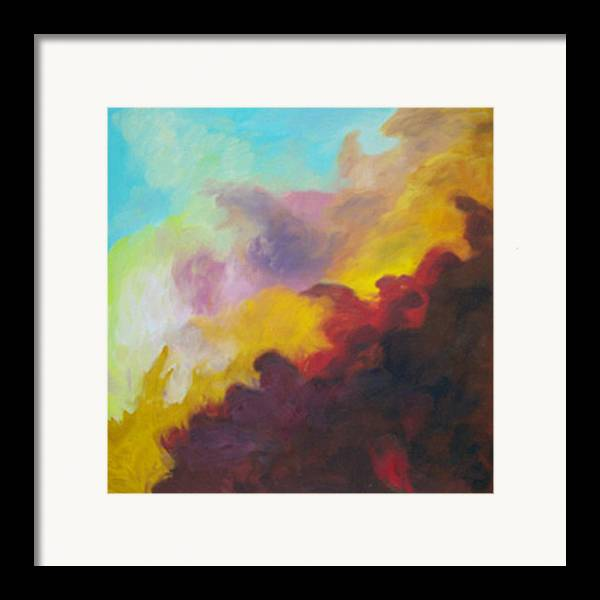 Abstract Framed Print featuring the print Space Cloud by Anne Trotter Hodge