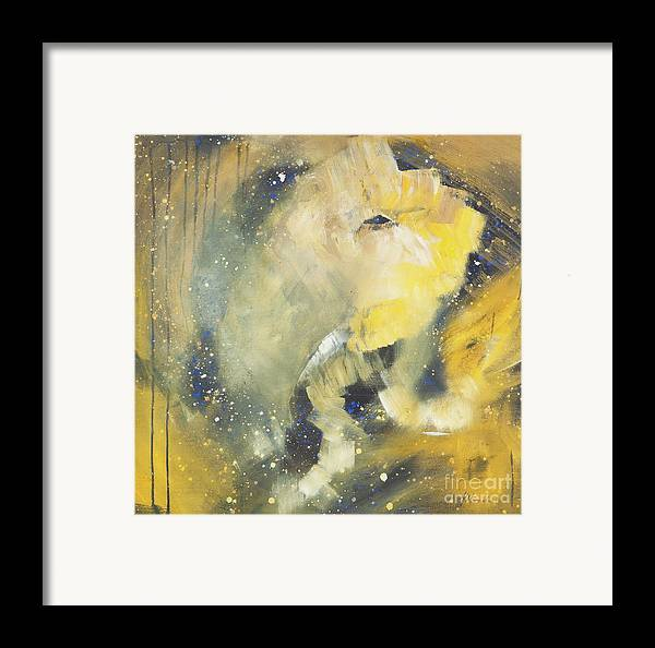 Elephant Framed Print featuring the painting Space Elephant by Kate Maconachie