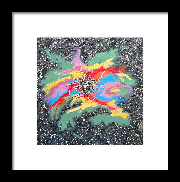 Space Framed Print featuring the painting Space Garden by V Boge
