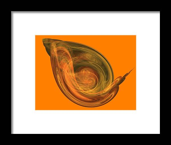 Digital Framed Print featuring the digital art Space Junky by Thomas Smith