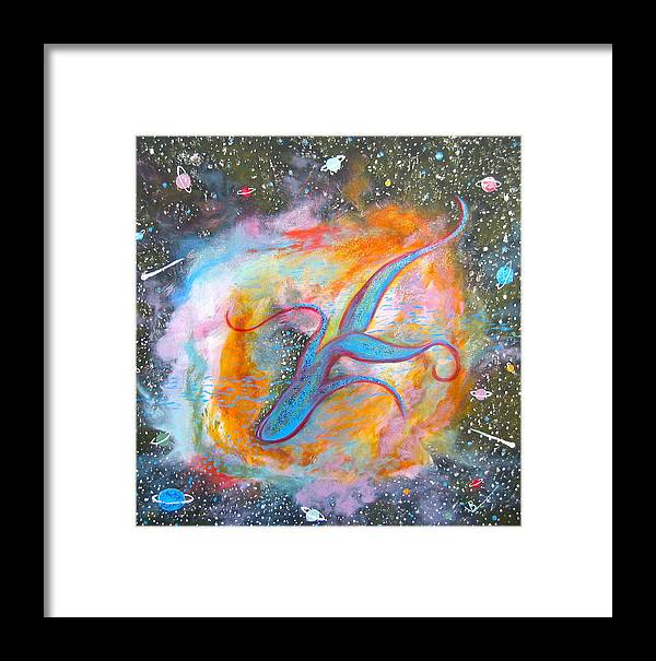Space Framed Print featuring the painting Space Ocean by V Boge