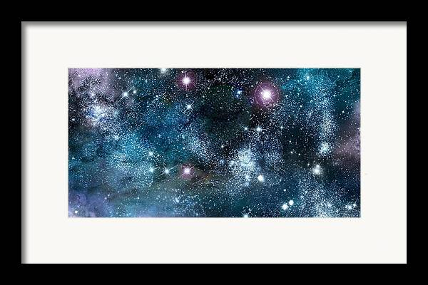 Abstract Framed Print featuring the digital art Space003 by Svetlana Sewell