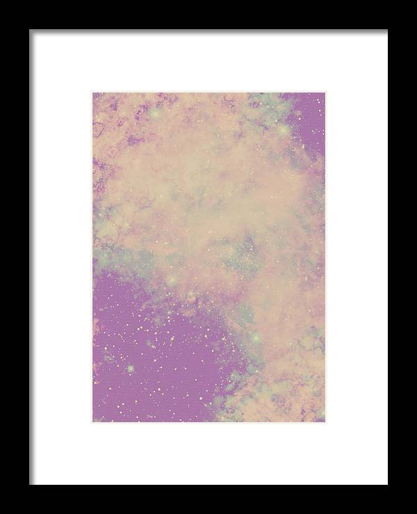 Space Framed Print featuring the tapestry - textile Spacebound by Mason Denaro
