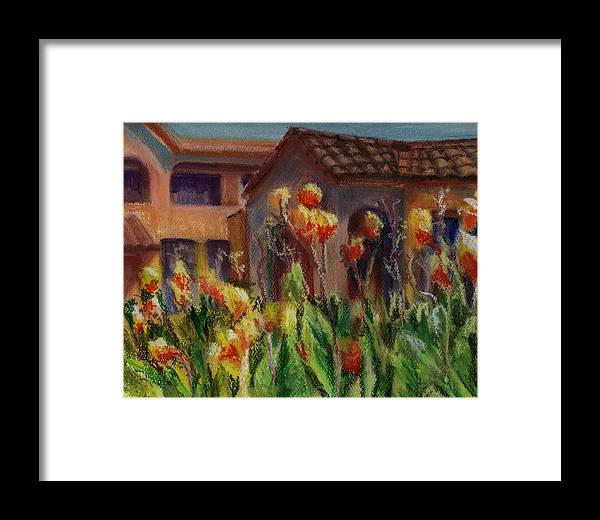 House Framed Print featuring the painting Spanish Abode by Patricia Halstead