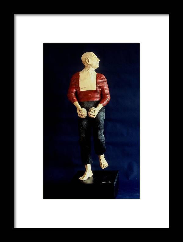 Dance Framed Print featuring the sculpture Spanish Dancer by Gordon Becker