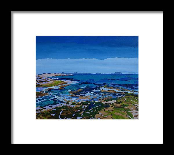 Ocean Framed Print featuring the painting Spanish Jewels, 2 by Leah Tomaino