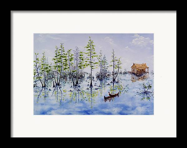 Swamp Framed Print featuring the painting Spanish Moss by Richard Barham