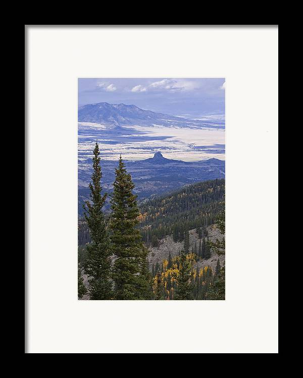 Black Mesa Framed Print featuring the photograph Spanish Peaks by Charles Warren