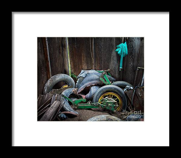 Old Framed Print featuring the photograph Spare Tires A-plenty by Royce Howland